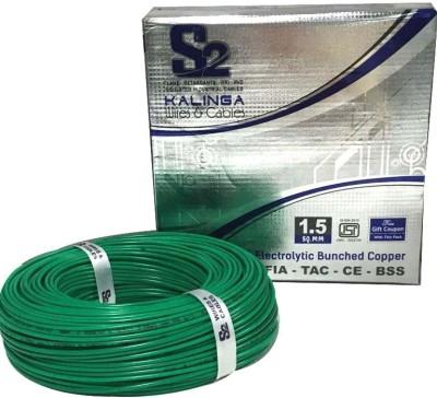 S2 KALINGA Flame Retardant (FR) PVC 1.5 sq/mm Green 90 m Wire