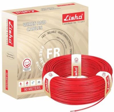 Lisha FR PVC, PVC 1 sq/mm Red 90 m Wire