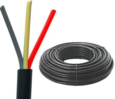 KEI FR PVC, PVC 0.5 sq/mm Black 100 m Wire
