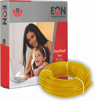 EON FR PVC 2.5 sq/mm Yellow 90 m Wire(Yellow)