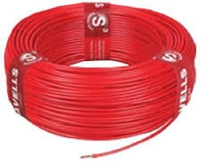 Havells FR PVC, PVC 2.5 sq/mm Red 90 Wire