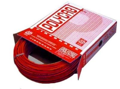 Polycab FR PVC, PVC 2.5 sq/mm Red 90 m Wire
