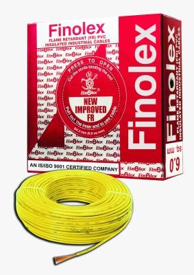 Finolex FR PVC, PVC 6 sq/mm Yellow 90 m Wire