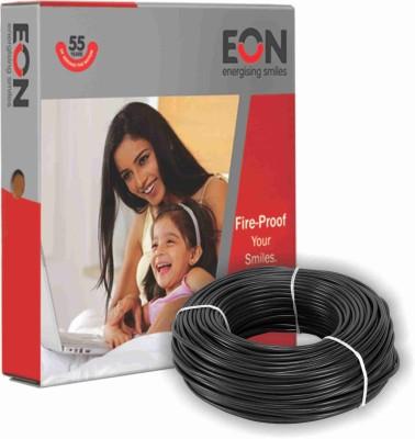 EON FR PVC 1 sq/mm Black 90 m Wire(Black)