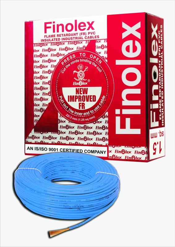 Finolex FR PVC, PVC 1.5 sq/mm Blue 90 m Wire(Blue)