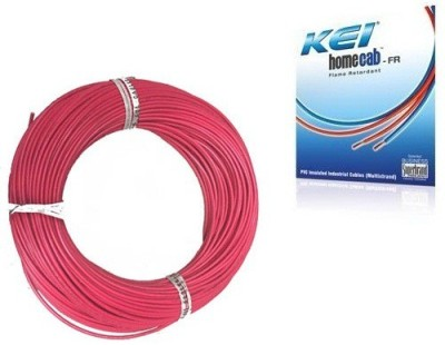 KEI FR PVC, PVC 1.5 sq/mm Red 180 m Wire