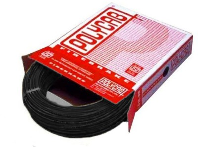 Polycab FR PVC, PVC 4 sq/mm Black 90 m Wire