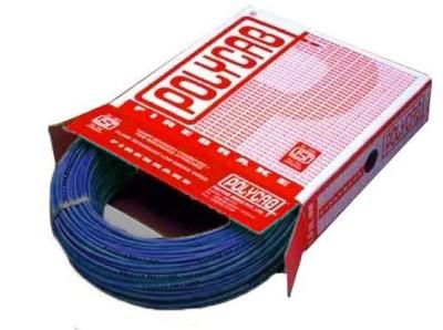 Polycab FR PVC, PVC 1.5 sq/mm Blue 90 m Wire