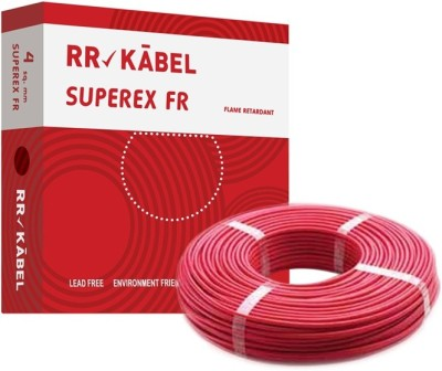 RR Kabel FR PVC 4 sq/mm Red 90 m Wire