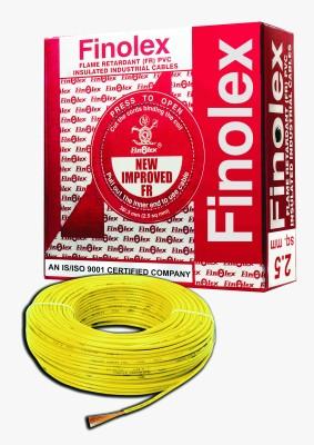 Finolex FR PVC, PVC 2.5 sq/mm Yellow 90 m Wire