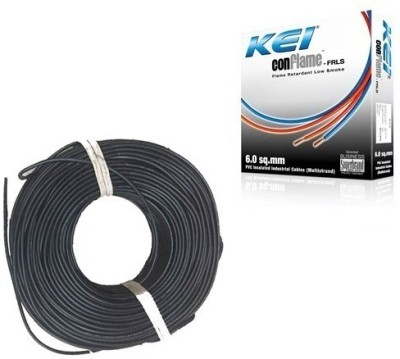 KEI FR PVC, PVC 1 sq/mm Black 180 m Wire