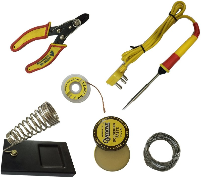 ALPHA 6in1 soldering kit 25 W Soldering Iron(Flat Type Bit...