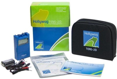 Hollywog Pain Relief Stimulator Tens Unit 2D - Dual Channel Nerve Stimulator Tens Unit Electrotherapy Device