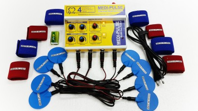 MEDI-PLUSE 4,,CH DELUXE A/C & DC TEN,S MACHINE WITH PLUSE INDICATION LIGHT AND SOUND Electrotherapy Device