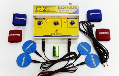 MEDI-PLUSE 2CH TENS (DELUXE MODEL) TWO CHANNEL TEN,S MACHINE PAIN RELIEVER , STIMULATOR ALL INDIA SERVICES Electrotherapy Device