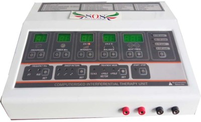 SOS Computerised Interferential Therapy Unit (Digital,IFT-29 Prog.) Physiotherapy Electrotherapy Device