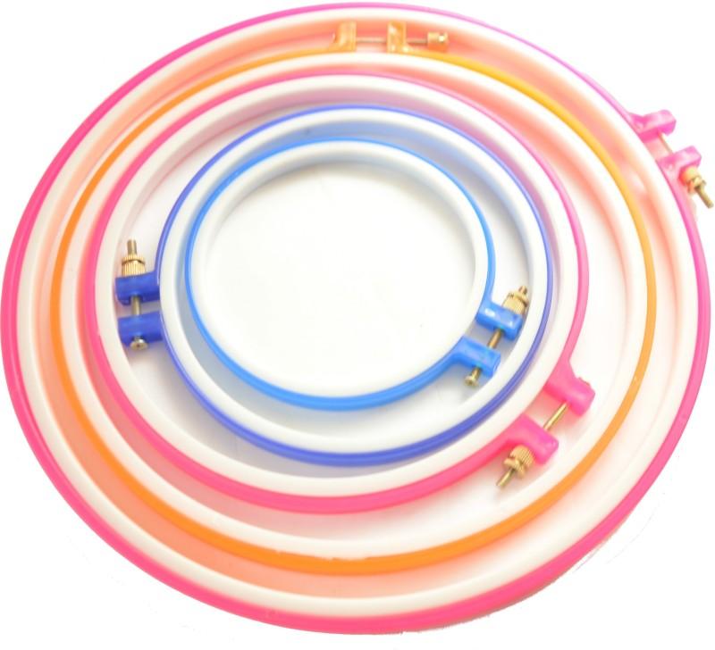 ecaart Plastic Embroidery Hoop/Frame Embroidery Hoop(Pack of 5)