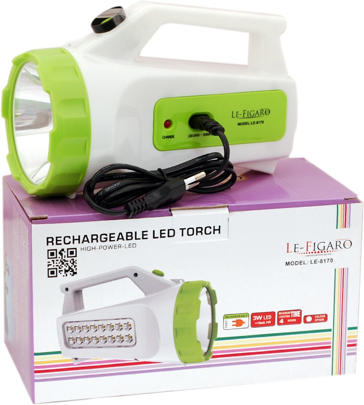 View Le Figaro Emergency Lights(White Green) Home Appliances Price Online(Le Figaro)