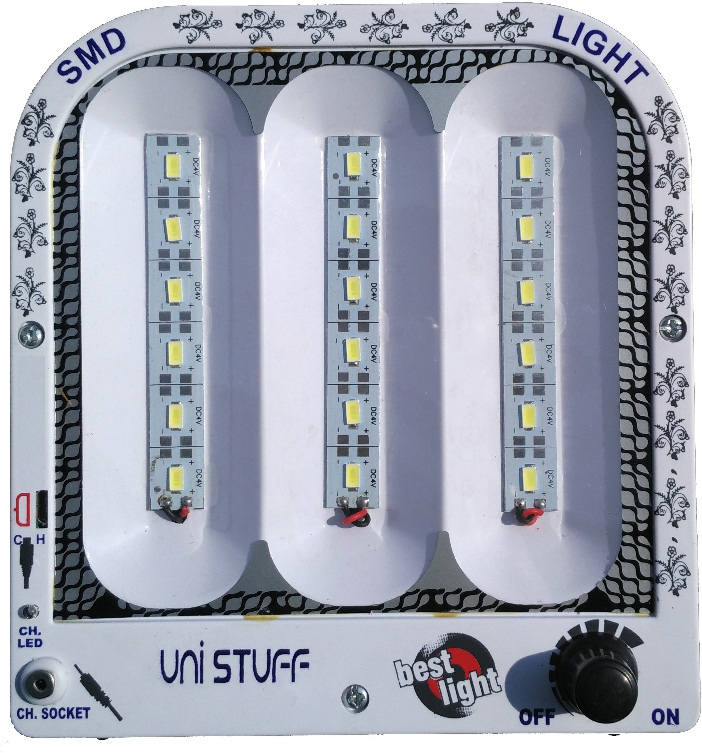 View Unistuff 18 LED Rechargeable Emergency Lights(Black) Home Appliances Price Online(Unistuff)