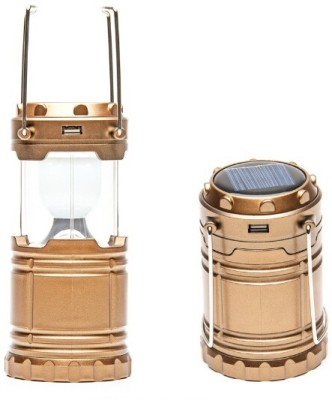 DIZIONARIO Solar Camping Lights Portable Light Lamp Emergency Lantern Solar Lights(Brown)