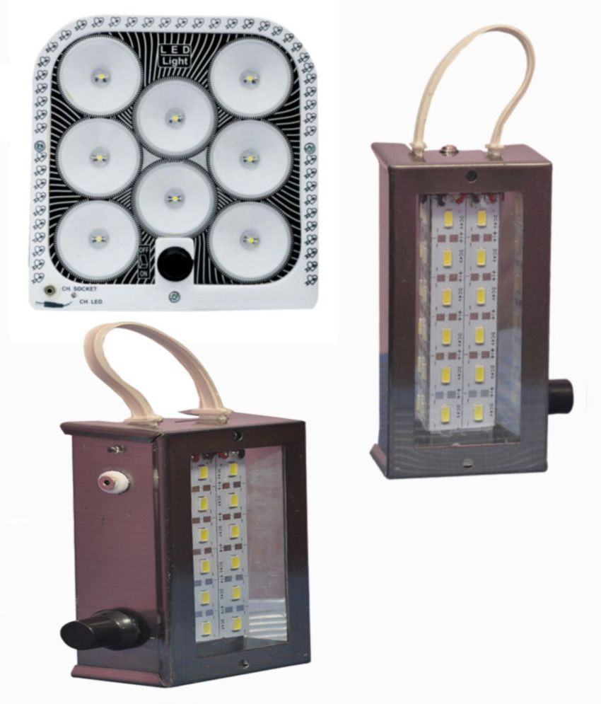 View mobizon 8 IN ONE AND 2 SMD Emergency Lights(Black) Home Appliances Price Online(Mobizon)