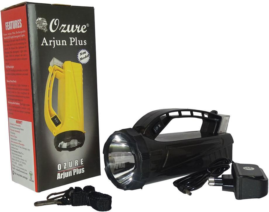 View Ozure Arjun Plus Rechargeable Search LED Light Emergency Lights(Black) Home Appliances Price Online(Ozure)