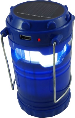 DOCOSS Blue Camping rechargeable Portable led solar lantern lamp Emergency Lights(Blue)