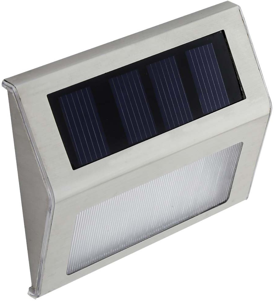 View GLiT Solar LED Foot Lamp Solar Lights(Steel Gray) Home Appliances Price Online(GLiT)