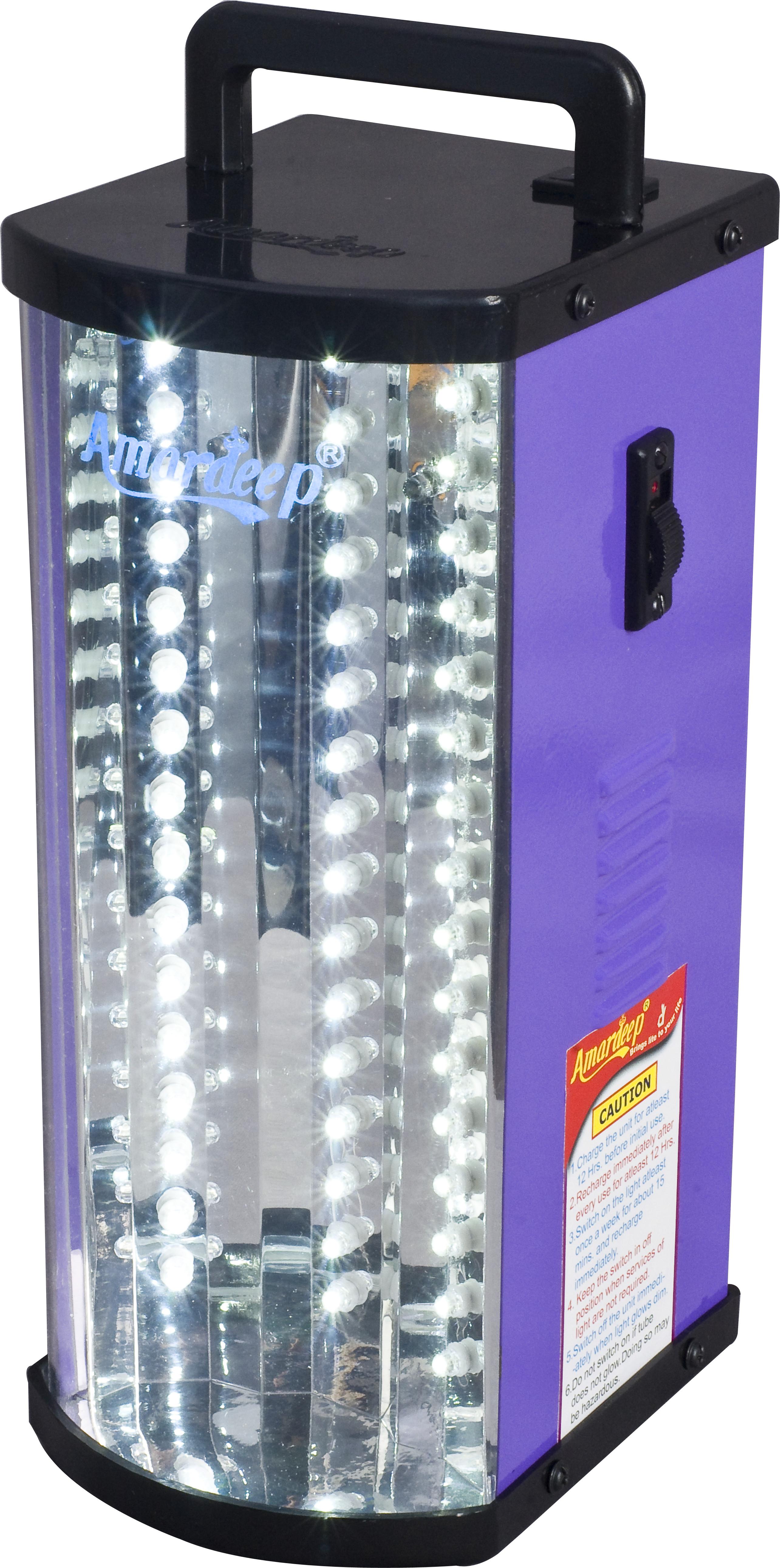 View Amardeep AD 183 Emergency Lights(Violet, Black) Home Appliances Price Online(Amardeep)