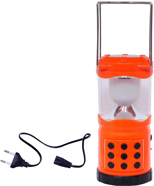 View MTC Rechargeable Led Solar laltern (Large) With USB Port As Power Bank Cum Emergency Lights(Orange) Home Appliances Price Online(MTC)