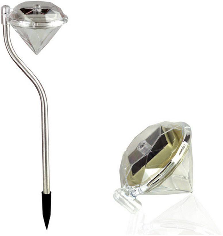 View Quace Garden Diamond Shaped Solar Lights(Silver) Home Appliances Price Online(Quace)