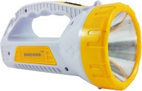 DOCOSS PR-959-Yellow- Rechargeable Led Torch + Emergency Lamp Light Torches(Multicolor)
