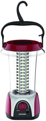 Sonashi 84 LED Hangable Rechargeable Emergency Lantern with Valve Control 4 Hrs Backup Solar Lights(Red)