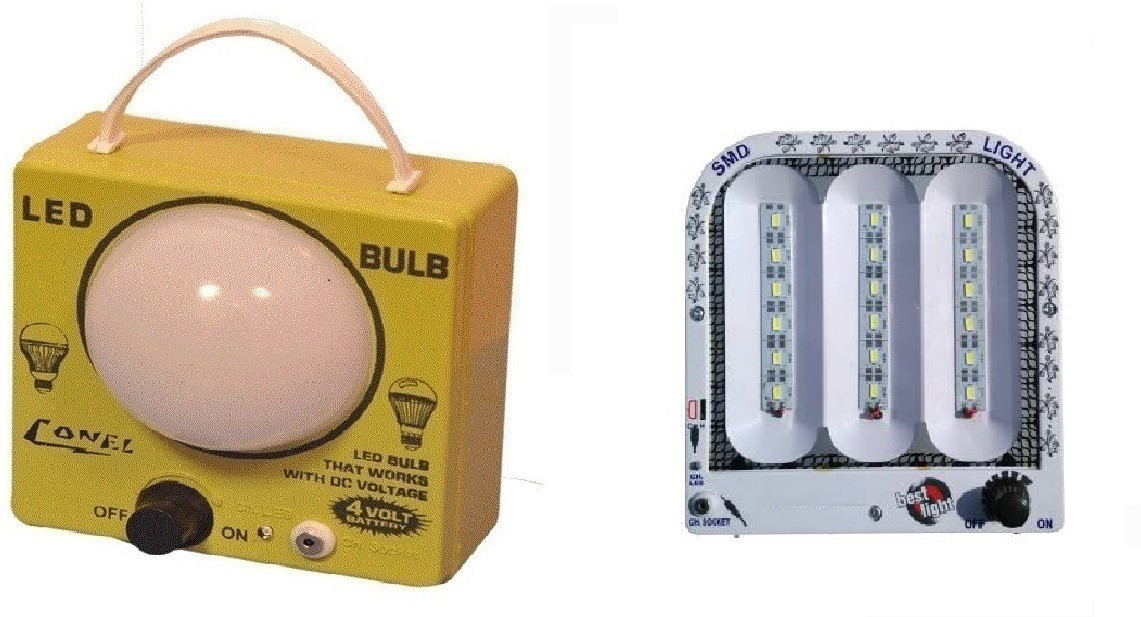 View CELLZONE Combo pack of 1 LED Bulb & 18 SMD Light Rechargeable Emergency Lights(Multicolor) Home Appliances Price Online(CELLZONE)