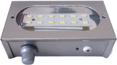 BLJ Bright White 7 Modes 12 SMD Portable Emergency Lights(Silver)