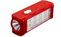 Saihan 8 SMD Rechargeable High Beam Torch Emergency Lights(Red)