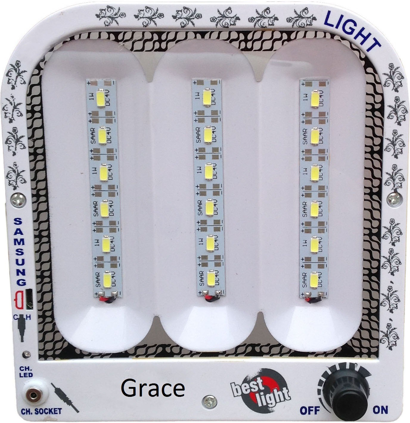 View Grace Fashion Villa 18 SMD Light Emergency Lights(White) Home Appliances Price Online(Grace Fashion Villa)