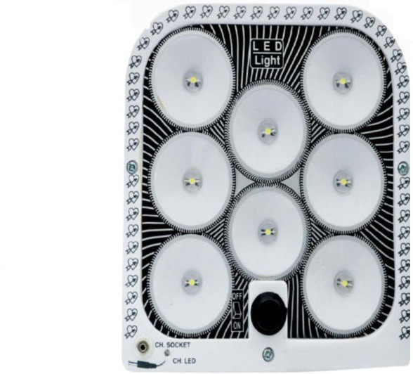 View CELLZONE 8 LED RECHARGABLE Emergency Lights(Multicolor) Home Appliances Price Online(CELLZONE)