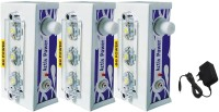 Go Power 3 LED (Set of 3) with Charger Rechargeable Emergency Lights(White)