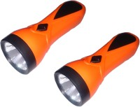 Tuscan Set of 2 Pcs Rechargeable LED Torches(Orange)