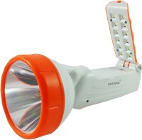 DOCOSS Orange 2 in1-Rechargeable Led+ Emergency Lamp Light Torches(Orange, White)