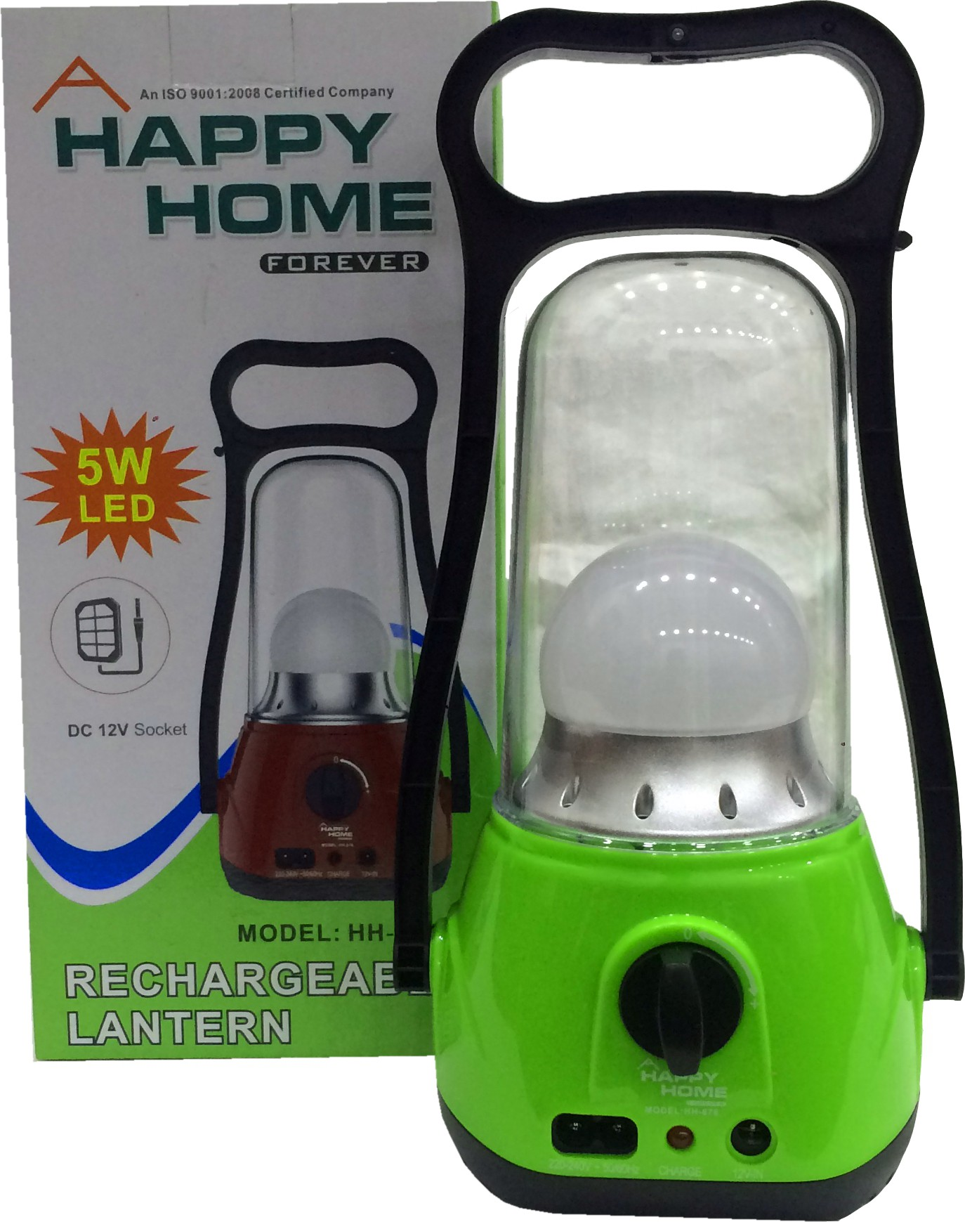 View Happy Home HH-678 Emergency Lights(Green, Black) Home Appliances Price Online(Happy Home)