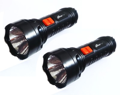 Tuscan Handy Rechargeable High Focus LED- Set of 2 pcs Combo Torches