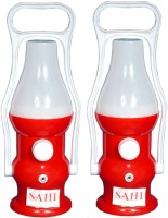 Sahi Rechargeable LED minar with charger -set of 2 Emergency Lights(Red)
