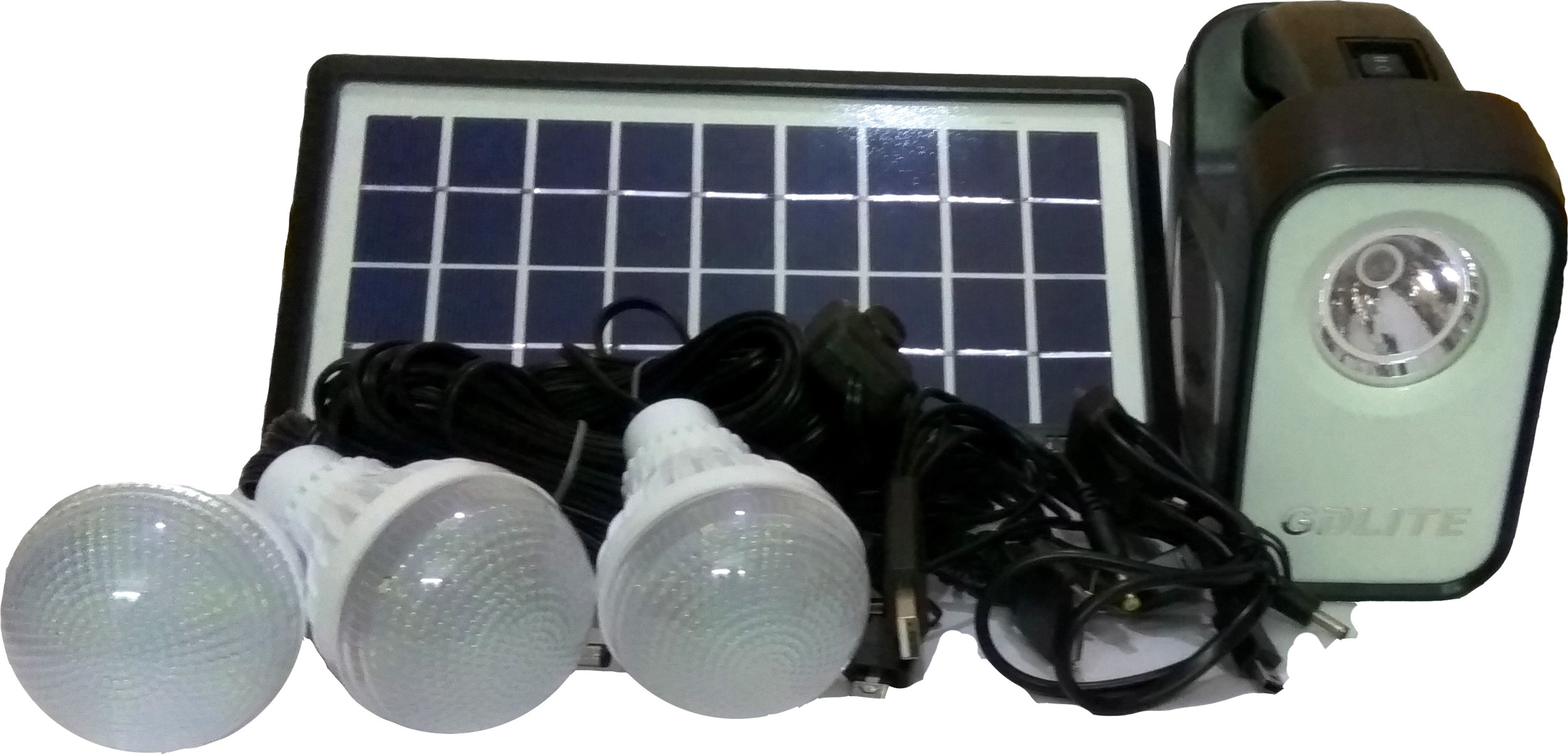View GDlite -3 Dual Lighting Solar Lights(White, Black) Home Appliances Price Online(GDlite)