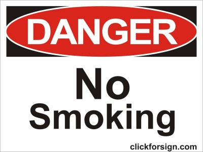 clickforsign No smoking OSHA Safety Sign Board(8x6 inch) Emergency Sign