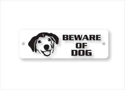 Neghizhi Beware Of Dog Emergency Sign(Reflective Sign)