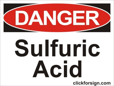clickforsign Sulfuric Acid OSHA Safety sign board(8x6 inch) Emergency Sign