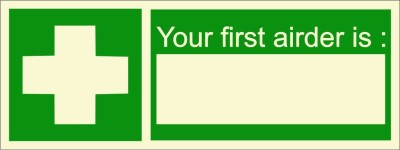 BRANDSHELL Your First Airder Is Emergency Sign