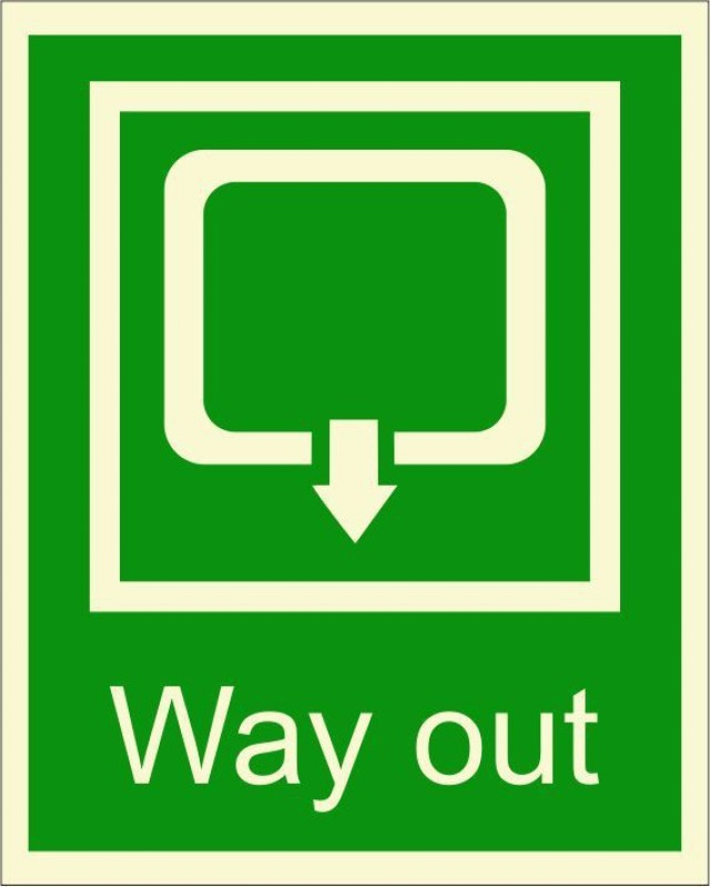 BRANDSHELL Way Out Emergency Sign